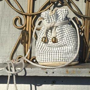 Vintage Y & S original mesh drawstring purse.